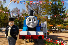 Stream engine and Fat Controller at Thomas land Stock Images