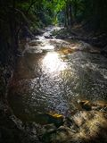 Stream flow of thailand waterfall royalty free stock images