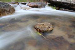 Stream flowing. In over rocks Royalty Free Stock Photo