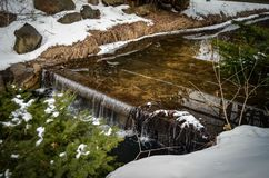 Winter Water Feature on a Cold Day Stock Photo