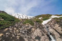 Stream flowing lava on the volcano Etna Stock Photos