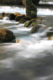 Stream flowing over rocks Royalty Free Stock Photo