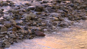 Stream Flowing Over Rocks stock video