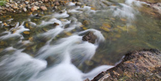 Stream flowing panorama Stock Photo