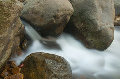 Stream flowing past rocks Royalty Free Stock Image