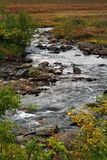 A stream flowing at Tromso Norway stock images