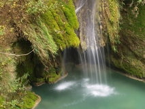 Stream in the forest. In Urbasa, Basque Country Stock Photos