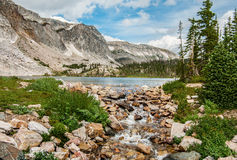Free Stream From A Mountain Lake Royalty Free Stock Photos - 44281118