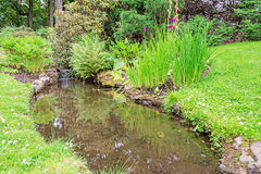 Stream in garden horizontal Stock Photos