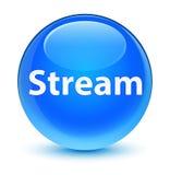 Stream glassy cyan blue round button Royalty Free Stock Photos