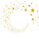 Stream Gold Stars Royalty Free Stock Images