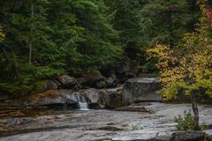A Stream in Grafton Notch State Park. A view of a stream in Grafton Notch State Park in Maine Royalty Free Stock Photo