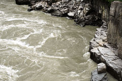 Stream in Hells Gate in the southern Fraser Canyon Royalty Free Stock Photos