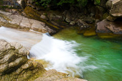 Stream in huangshan mountain stock image