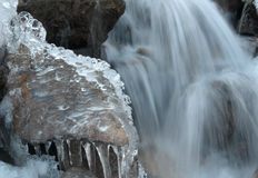 Stream of ice. S are crystal in particular Stock Photo