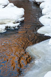 Stream with ice and snow Royalty Free Stock Photo