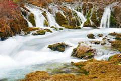 Stream in jiuzhaigou Stock Photos