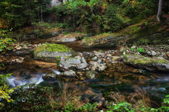 Stream in Karkonosze Mountains Stock Images