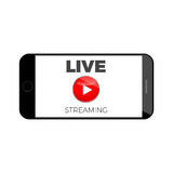Stream live broadcast icon. Online  media content banner Stock Photo