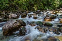 The stream. A long exposure shot of a stream near Waan village, Uttarakhand, India Stock Image