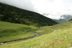 Stream and meadow in Andorra Stock Photos