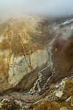 Stream from melting of glaciers on the active volcano Mutnovsky. Stock Image