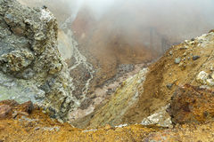 Stream from melting of glaciers on the active volcano Mutnovsky. Stock Photography