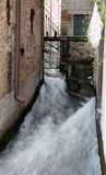 Stream in the middle of the industrial building, once used to ge Stock Image
