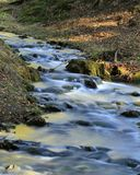 Stream mixes. This stream in the mosty u jablunkova, in the czech republic Stock Photography