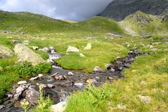 Stream in the mountain Stock Photos