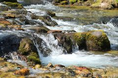 Stream in mountain Royalty Free Stock Photography