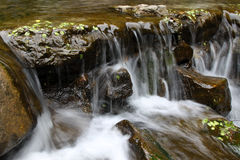 Stream in mountain in a geological park Royalty Free Stock Photography
