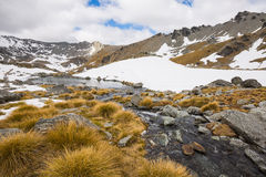 Stream and mountain landscape Stock Images