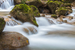 Stream. Mountain stream among the mossy stones at Mixnitz in Styria, Austria Royalty Free Stock Photos