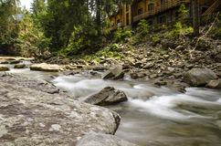 Stream of the mountain river Royalty Free Stock Images