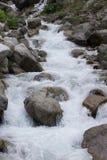 Stream of mountain river Stock Photo