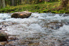 Stream in the mountains, HDR Photo Stock Photo