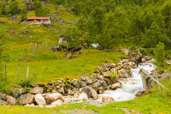 Stream in mountains, Norway. Royalty Free Stock Photography
