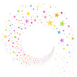Stream of Multicolored Stars royalty free illustration