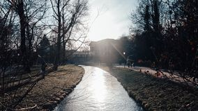 A stream in munich city royalty free stock image
