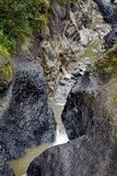 Stream near Banos, Ecuador. Stream above a waterfall in a gorge near Banos, Ecuador Stock Photo