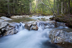 Stream in New Hampshire; White Mountains in autumn Stock Images