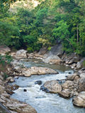 Stream in Ob Luang National Park in Chiang Mai, Thailand. In the past it was used to be the way for transporting logging Stock Photography