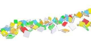 Stream office folders Stock Photography