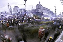 Stream of people on Maidan Stock Photography