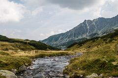 Stream in the Polish Tatra Mountains stock images