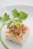 Stream Radish cake ,dessert thai food Royalty Free Stock Photos