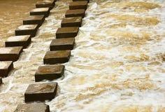 Stream. Stream in the rainy season,north of Thailand Royalty Free Stock Photo