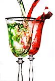 Stream Red Wine In Glass Royalty Free Stock Photos