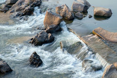 Stream of river. Royalty Free Stock Photo